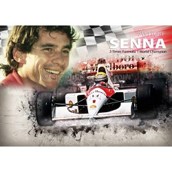 Aryton Senna, Classic F1 Legend Formula One, World Champion A4 Print