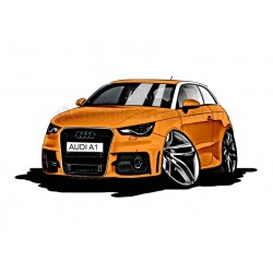 Audi A1 Cartoon Caricature