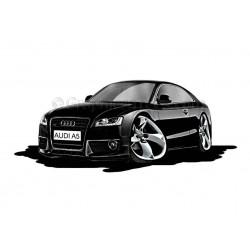 Audi A5 Cartoon Caricature