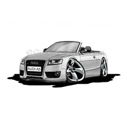 Audi A5 Cabriolet Cartoon Caricature