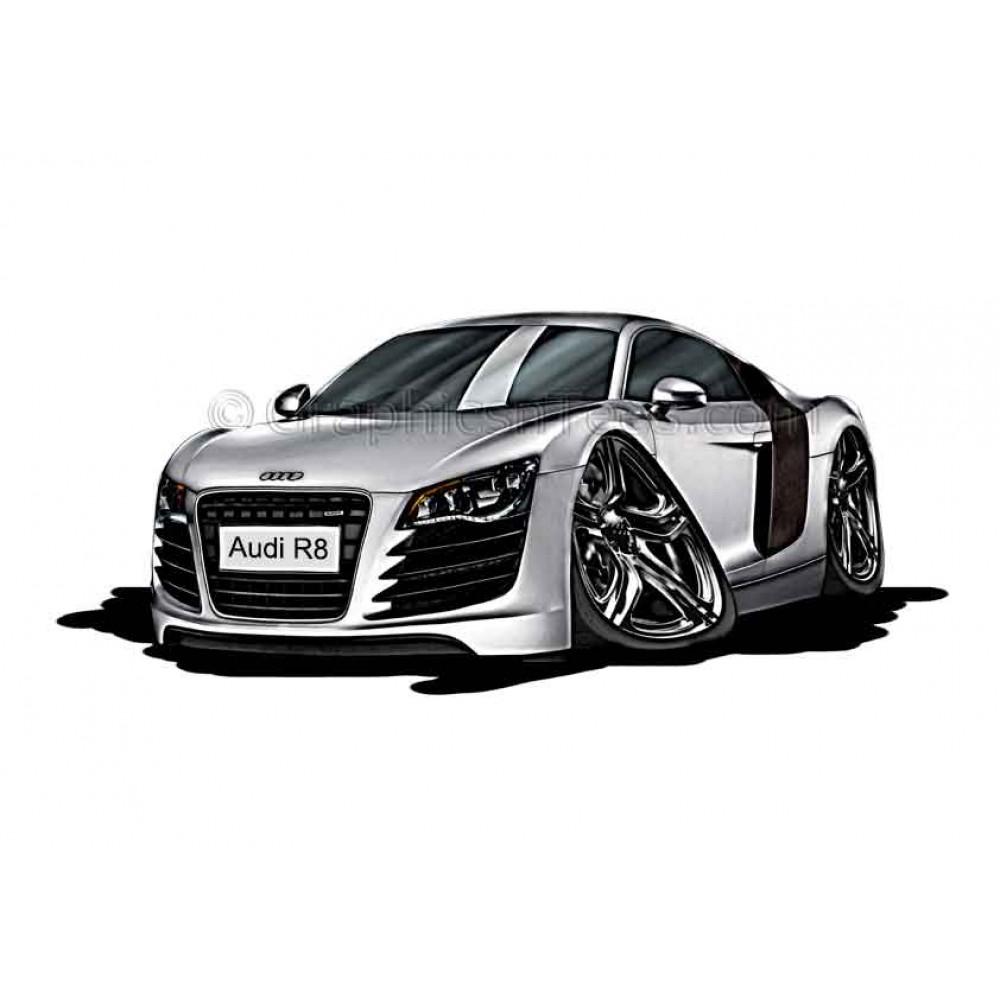 Audi R8 Cartoon Caricature