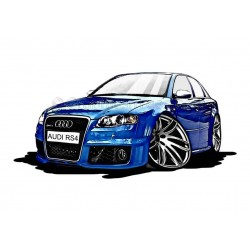 Audi A4 RS4 Cartoon Caricature