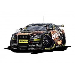 Audi A4 Exocet BTCC Cartoon Caricature