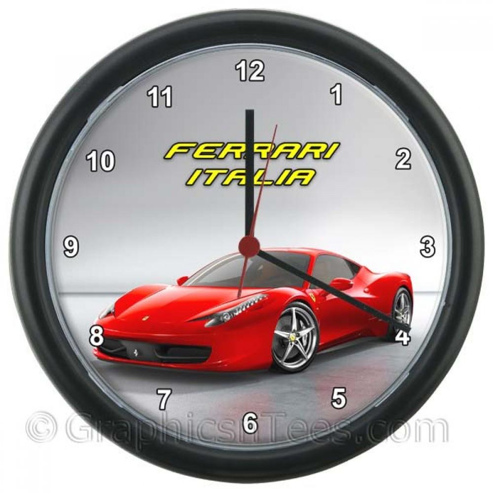 Ferrari 458 Italia Wall Clock Featuring