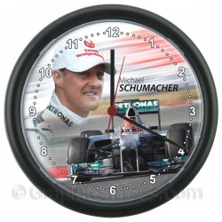 Michael Schumacher in the F1 Mercedes Wall Clock