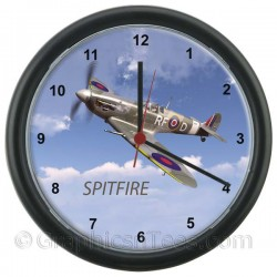 The Classic Spitfire Fighter Plane Wall Clock