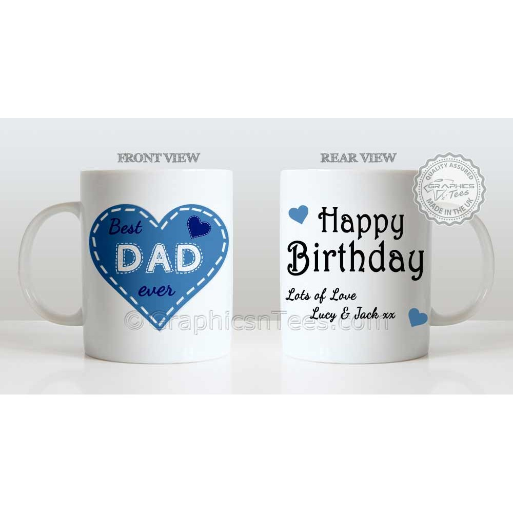 Best Dad Ever Quote Happy Birthday Persoanlised Unique Present For Daddy Lots Of Love Mug 1000x1000