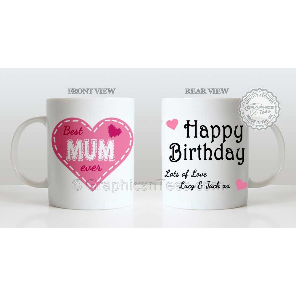 Best Mum Ever Happy Birthday Personalised Gift Mug Love Unique For Mummy 1000x1000