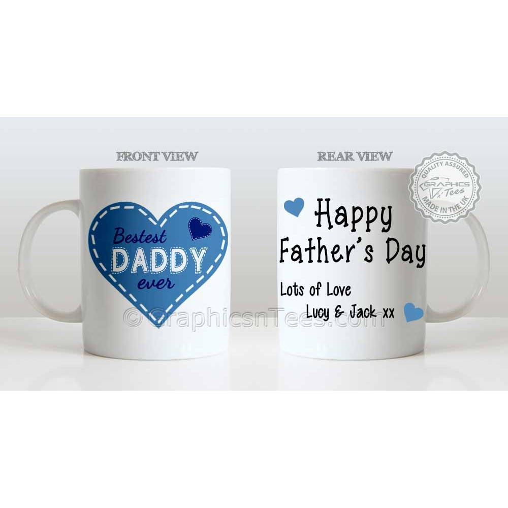 best daddy ever quote in heart design personalised father s day