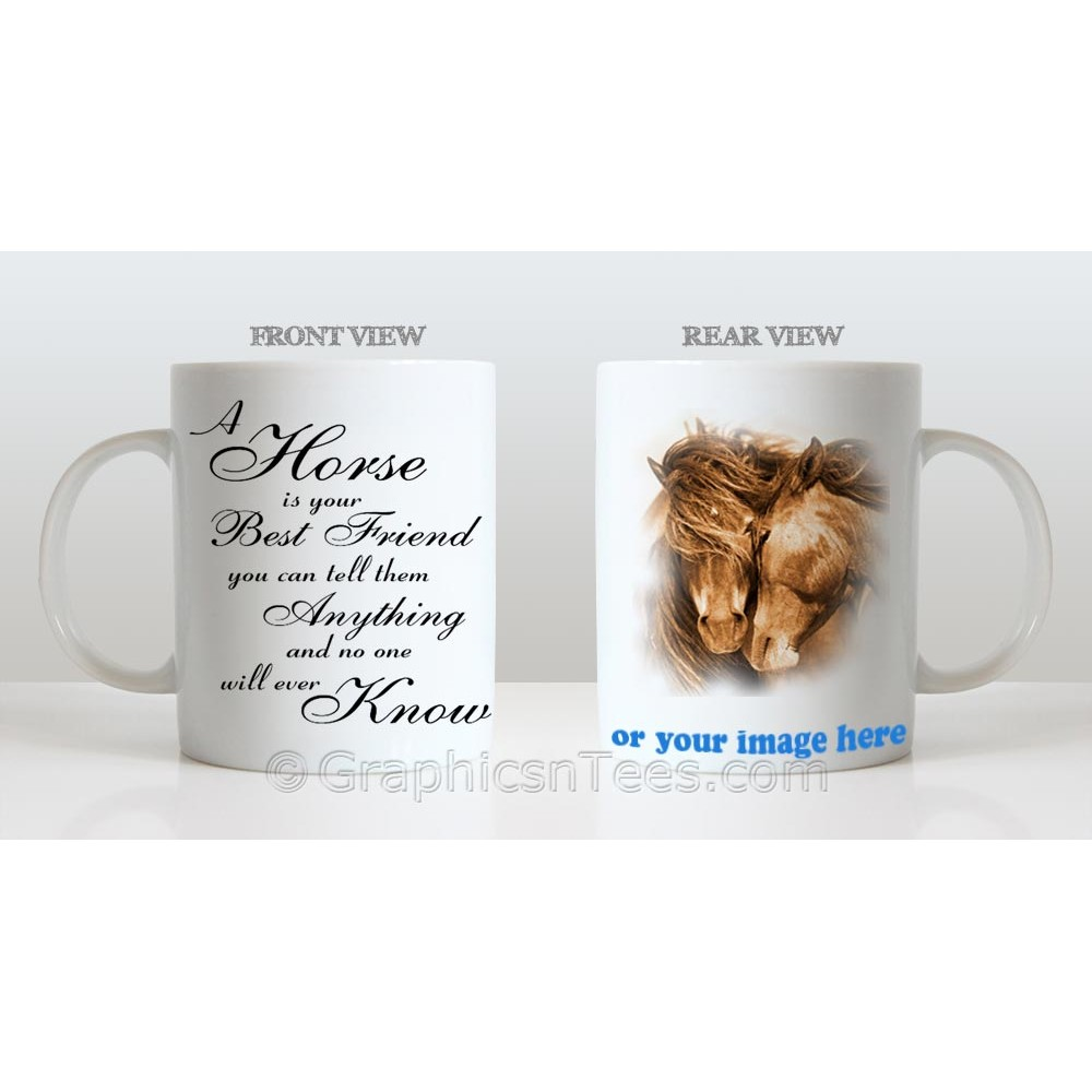 A Horse is Your Best Friend Personalised Horse Mug With Your Own ...
