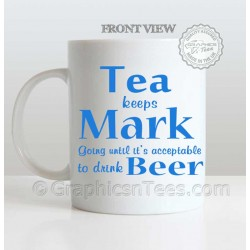 Personalised Drink Beer Funny Humorous Mug - Smooth White Ceramic 11oz Tea Coffee Mug