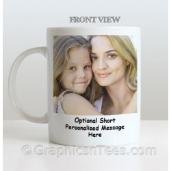 Personalised Mug With a Loved One or a Friends Picture, Name & Message