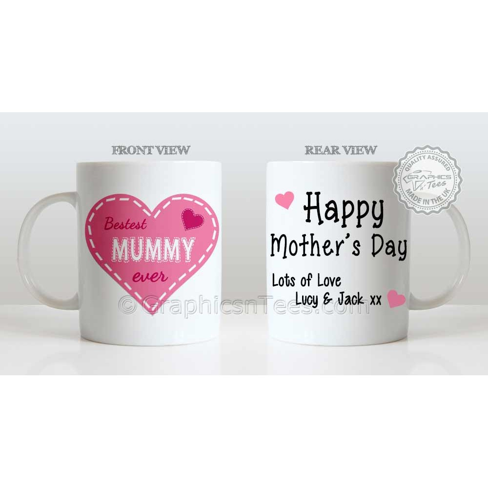 Personalised Mums Birthday Present Idea Unique Gift Bestest Mummy Ever Quote On Mug For Mum Personalized Mothers Day 1000x1000
