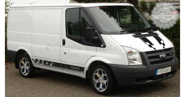 Ford Transit Mk7 Sport St Style Bonnet And Side Stripes