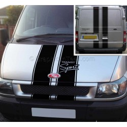 Ford Transit Sport ST Style Bonnet and Rear Door Stripes Stickers Vinyl Graphic Van Decals