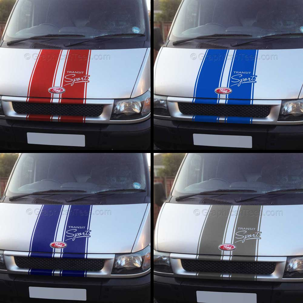 Ford Transit Sport St Style Bonnet Stripes Vinyl Graphic