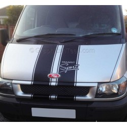 Ford Transit Sport ST Style Bonnet Stripes Vinyl Graphic Van Decals