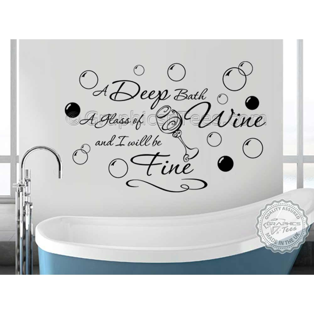 All Our Wall Art Designs Bathroom Wall Sticker Quote