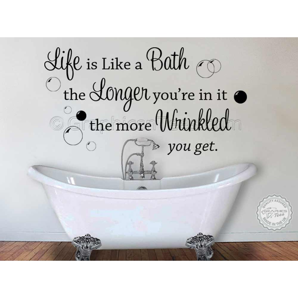 Bath Bathroom Wall Sticker Quote Decor