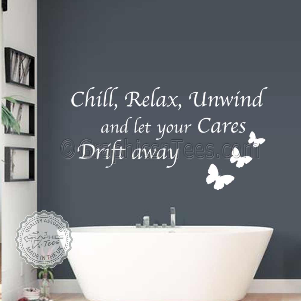 Bathroom Wall Art Chill Relax Unwind Bathroom Wall