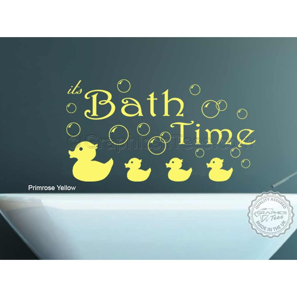 Bath Time with Bubbles ~ Wall Decal
