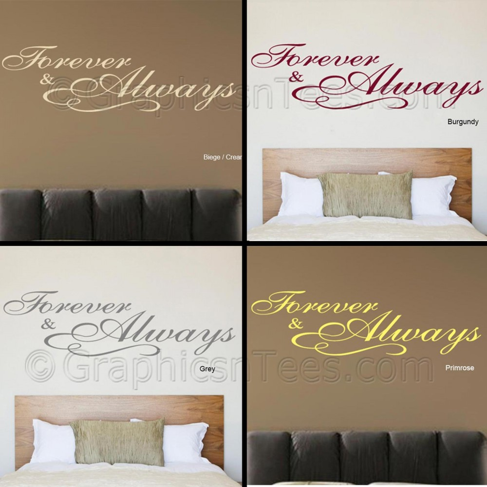 Bedroom Wall Art  Forever And Always Bedroom Wall Sticker, Romantic -1803