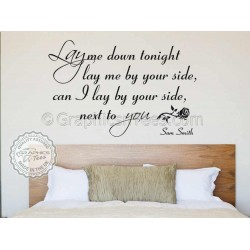 Sam Smith Lay Me Down Song Lyrics, Romantic Bedroom Wall Quote Vinyl Mural Decal