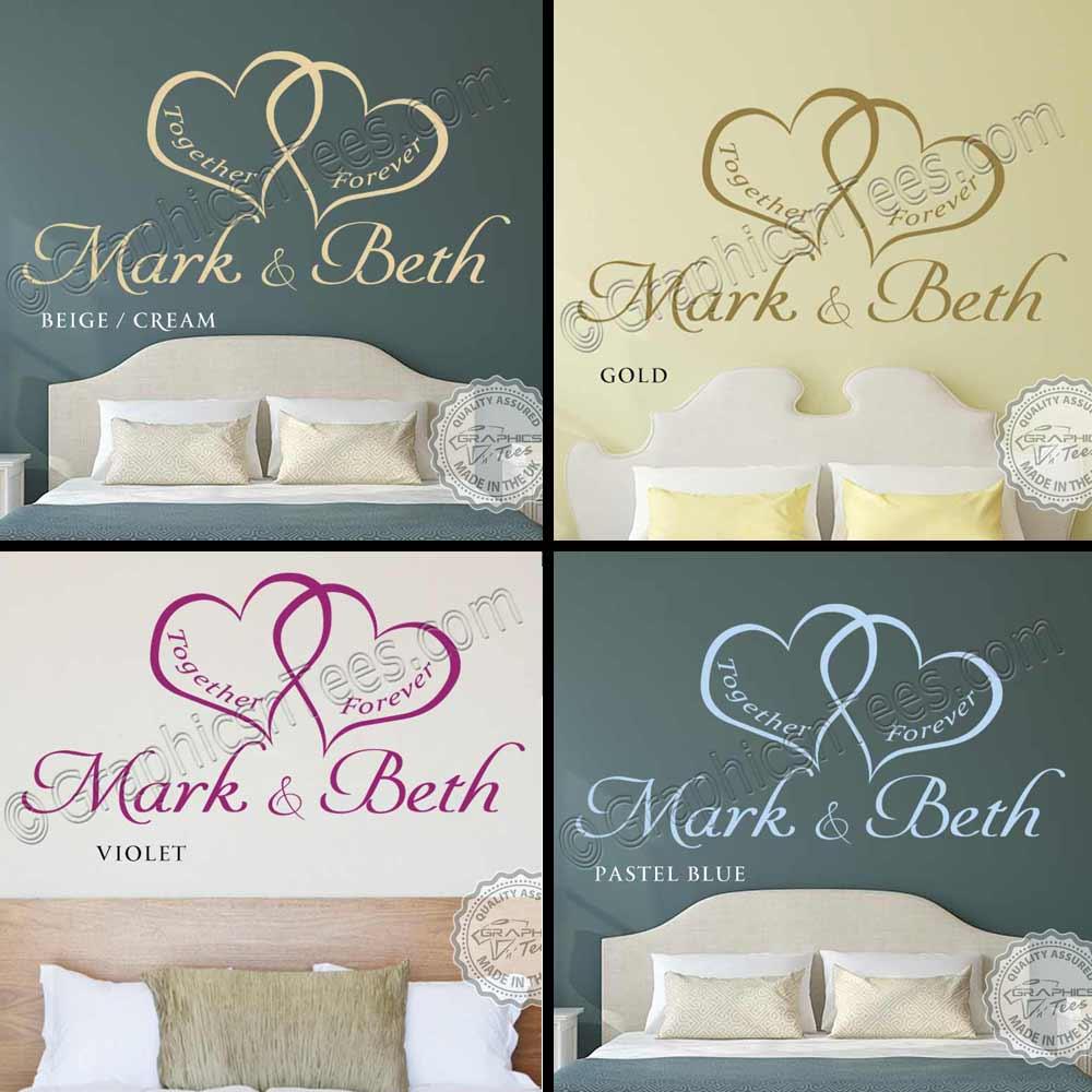 Bedroom Wall Art : Personalised Bedroom Wall Sticker ...