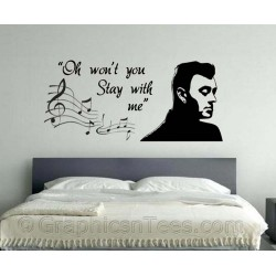 Sam Smith Stay With Me Song Lyrics, Romantic Bedroom Wall Quote Vinyl Mural Decal