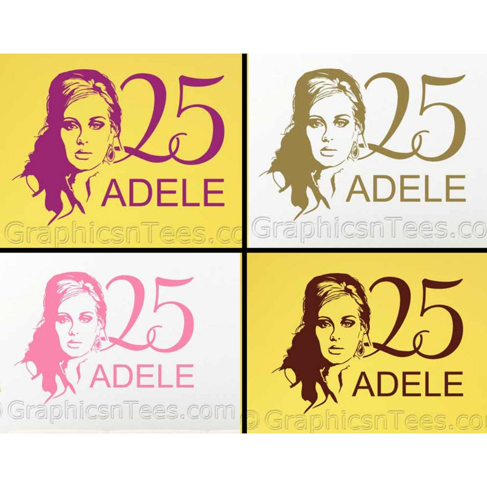 Adele 25 Silhouette, Home Bedroom Wall Art Sticker Decal