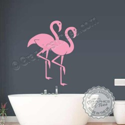 Flamingo Wall Sticker, Home Living Room Bathroom Wall Mural Decor Decals