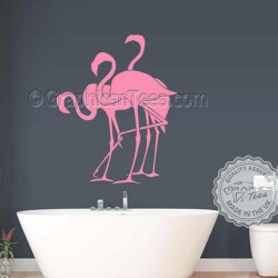 3 Flamingo's Wall Sticker, Home Living Room Bathroom Wall Mural Decor Decals