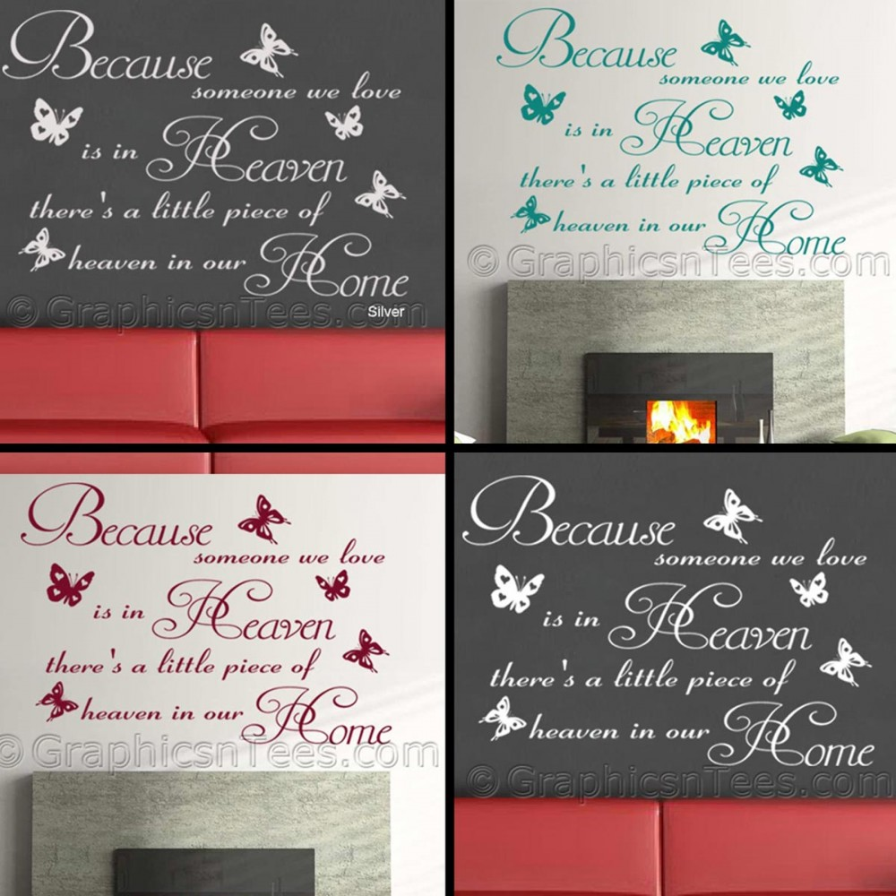 Because Someone We Love Is In Heaven, Inspirational Family Wall ...