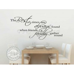 Best of Times, Inspirational Family Wall Sticker Quote, Home Vinyl Wall Art Decor Decal