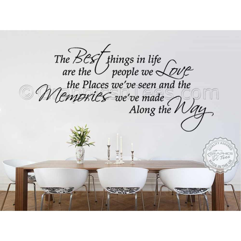 Best Things In Life Inspirational Family Wall Sticker Quote