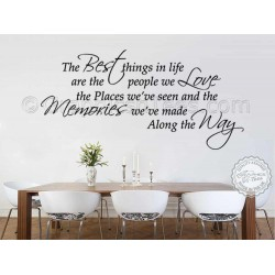 Best Things In Life, Inspirational Family Wall Sticker Quote, Memories We Make Home Wall Decor Decal