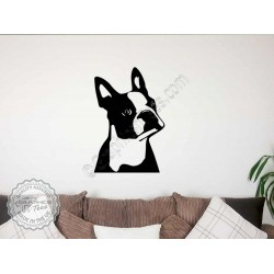 Boston Terrier  Wall Sticker, Vinyl Mural Decal