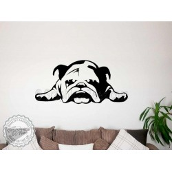 British Bulldog Puppy, English Bulldog, Wall Sticker, Vinyl Mural Decal