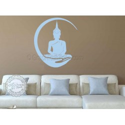 Buddha Wall Mural Sticker, Yoga Home Wall Decor Decal