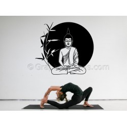 Buddha Wall Sticker, Home Mural Wall Decal