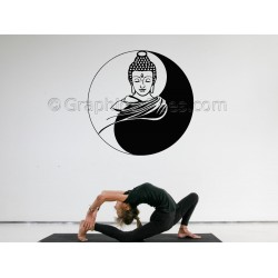 Buddha Wall Sticker, Yoga Home Mural Wall Decal