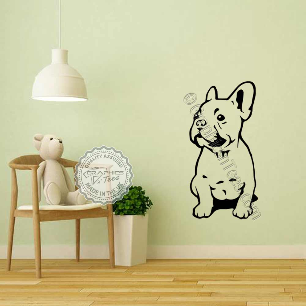 French Bulldog Sticker, Puppy Dog Home Vinyl Wall Mural Decal ...