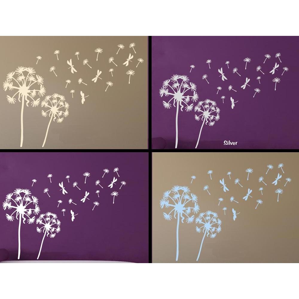Dandelion Blowing in the Wind Home Wall Mural Sticker ...