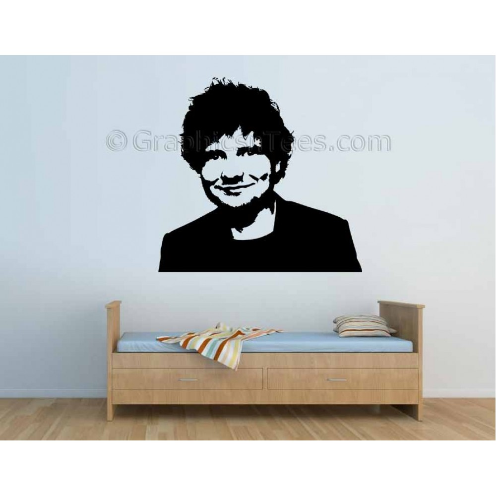 Ed Sheeran Face Silhouette Bedroom Wall Art Mural Sticker