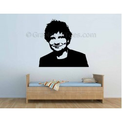 Ed Sheeran Face Silhouette, Bedroom Wall Art Mural Sticker Decal