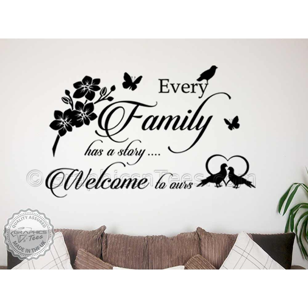 Motivational Inspirational Quotes: Every Family Story Inspirational Family Wall Sticker Quote