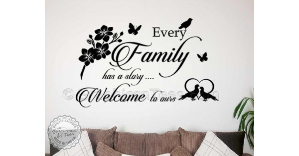 Every Family Story Inspirational Family Wall Sticker Quote