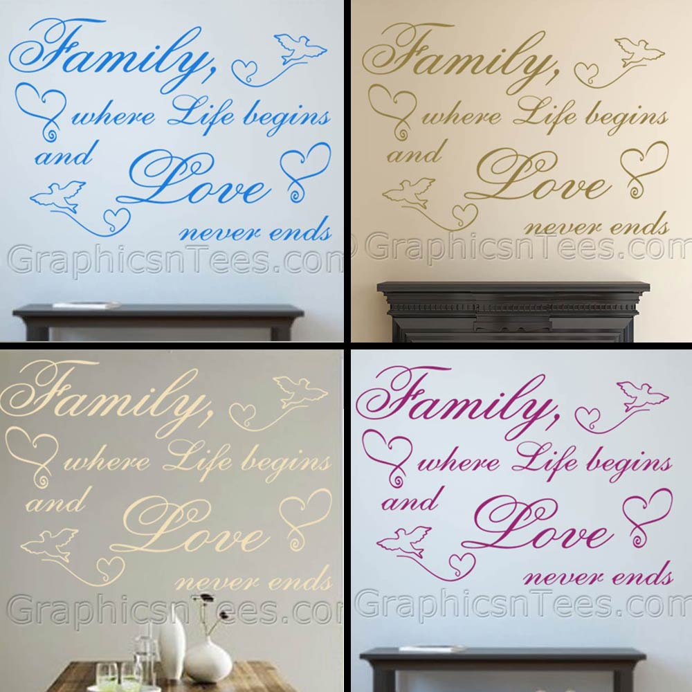 Home Wall Art and Inspirational Quotes : Family Where Life ...