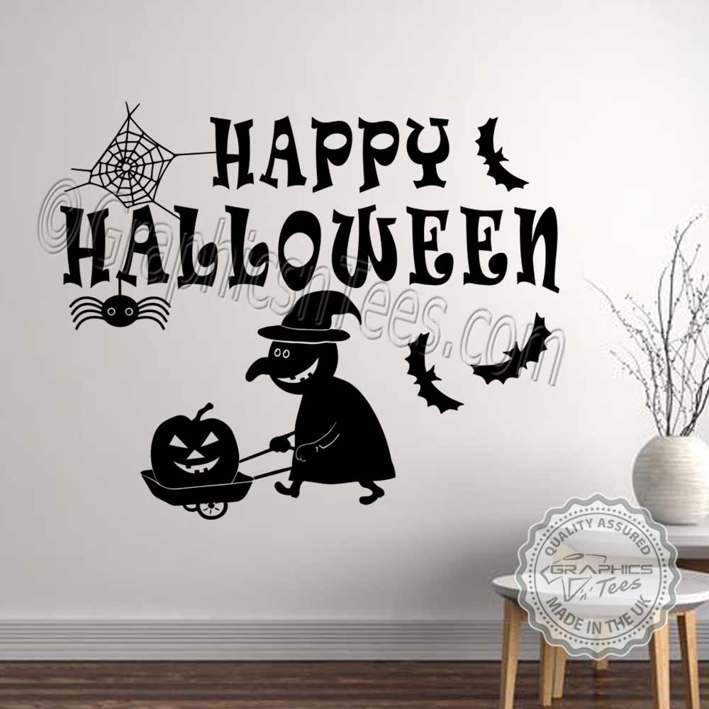 Happy Halloween Tips On Home Decoration 1: Bedroom Wall Art : Happy Halloween Wall Stickers Party