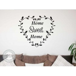 Home Sweet Home Family Wall Sticker  Quote Vinyl Mural Decor Decal in Heart